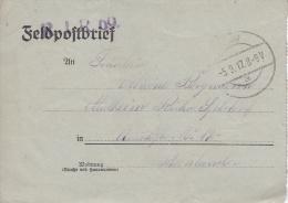 Feldpost WW1: Reserve Infanterie Regiment 69 P/m  5.9.1917 - Letter Inside  (G72-47) - Militaria
