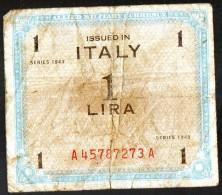 1 LIRE ISSUED IN ITALY SERIE 1943 (LOT AB8) - Geallieerde Bezetting Tweede Wereldoorlog