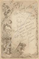 Menu Belle Illustration De 1885 - Menus
