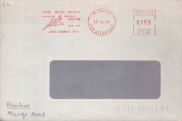 """Lettre EMA Rouge  64 Anglet 29 11 85 """"Avions Marcel Dassault Mirage 2000 Breguet Aviation - Postmark Collection (Covers)"""