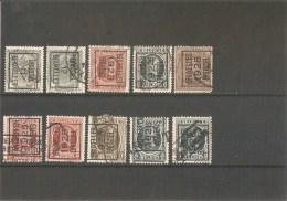 Belgie Voorafgest. Met Poststempels - Precancels