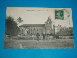 63 ) Montel-de-gelat - L'eglise , Prise Sur Auzances  - Année 1907 : EDIT : Boeuf - France