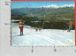 CARTOLINA VG ITALIA - MONTE PORA (BG) - Campi Si Sci E Skilift Nello Sfondo La Valle Seriana - 10 X 15 - ANNULLO 1970 - Bergamo