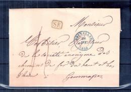 Lettre De Bruxelles Vers Jemappes - 1844 (à Voir) - 1830-1849 (Belgique Indépendante)