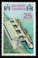 NEW HEBRIDES, British - Scott #175 New Wharf, Vila / Mint H Stamp - English Legend