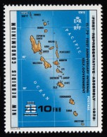 """NEW HEBRIDES, British - Scott #263 The 1st Anniversary Of Internal Self-Government """"Surcharged"""" / Mint NH Stamp - English Legend"""
