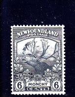 NEWFOUNDLAND - 1919 - */MLH - TRAIL OF CARIBOU - Yv 105 - Mi 101- Sc 120 - 1908-1947