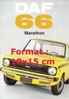 Reproduction D'une Photographie D'une Affiche DAF 66 Marathon - Repro's