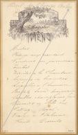 Menu Vers 1881 L Rogister Hotel De L'europe à Arlon - Menus