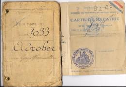 WW2 - CLASSE 1933 - LIVRET MILITAIRE Avec CARTE DE RAPATRIE Prisonnier De Guerre Du 23/6/1945 - Documents Historiques