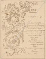 Menu 1884 Pour Major Duchateau Diner Offert Par Le Général Streitz - Menus