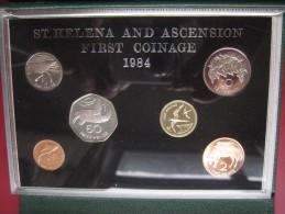 St. Helena Island 1984 6 Coin Set  Proof Royal Mint 1 Penny - 1 Pound Cased Very Rare - Sainte-Hélène