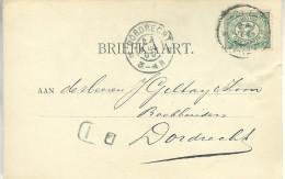 1900 Firma-brk Van GOUDA Naar Dordrecht - Periode 1891-1948 (Wilhelmina)