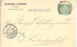 1900 Firma-brk Van AMSTERDAM Naar Dordrecht - Periode 1891-1948 (Wilhelmina)