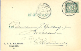 1900 Firma-brk Van NIJMEGEN Naar Dordrecht - Periode 1891-1948 (Wilhelmina)