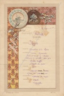 Menu 1892 Paquebot Salazie Messageries Maritimes Naufrage Madagascar 1er Classe Marseille - Menus