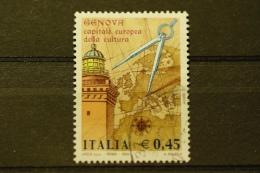ITALIA USATI 2004 - GENOVA 2004 CAPITALE EUROPEA CULTURA  - SASSONE 2741 - RIF. M 0354 - 6. 1946-.. Repubblica