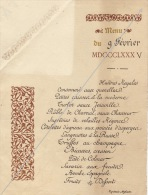 Menu 1885 Adresse Ministre De L'agriculture - Menus