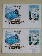 2 Fdc Cover From Germany 1991 M/s Sport Bobsport Altenberg, 2 Different Cancels Bonn Berlin - [7] República Federal