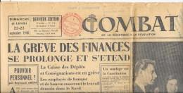"""-Journal """"COMBAT"""" 22-23 Sept. 1946 Devant Partir Avec Le BALLON """"NEPTUNE"""" Pour L´anniversaire Des Ballons De 1870 - Historische Documenten"""