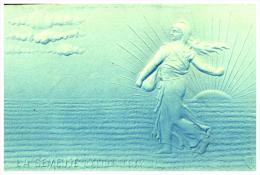 CPA LA SEMEUSE , D'après ROTY , En Bleu Et En Relief - Coins (pictures)