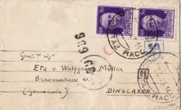 SIENA 1943 - BUSTINA PARTECIPAZIONI PER L´ESTERO / GERMANIA - BOLLI E FASCETTA DI CENSURA  -  SX159 - Storia Postale