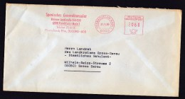 Germany: Cover, 1980, Meter Cancel, Consulate General Of Spain In Frankfurt Am Main (discolouring) - [7] West-Duitsland