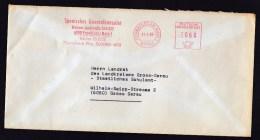 Germany: Cover, 1980, Meter Cancel, Consulate General Of Spain In Frankfurt Am Main (discolouring) - Brieven En Documenten