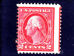 USA - 1912 - (*)/NSG - G. WASHINGTON - Mi 190 XA - VARIETY - Sc 406 - Unused Stamps