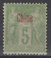 China Francesa 01 (*) Foto Exacta. 1894 Sin Goma - Usados