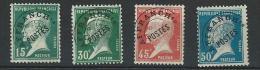 """Préo YT 65 à 68 """" Série Pasteur Complète """" 1922-47 Neuf*"""