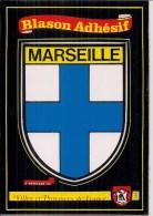 """Carte Postale """"Villes Et Provinces"""" Autocollant Vinyl   (13)    MARSEILLE  Blason - Marseille"""