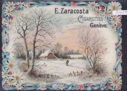 Genève Cigarettes E. Zaracosta Bordures Ouvragées (découpes) Pli Coin Dt En Bas ; 11,5 / 15,5 Cm (A1012) - Publicités