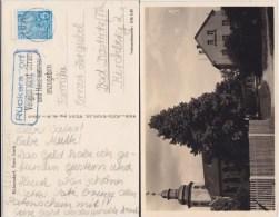 DDR Mi 578 Erg Landpost Stempel Rückersdorf ü Gera Kte Ca 1958 - Storia Postale