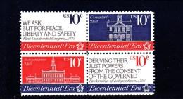 USA - 1974 - **/MNH - INDEPENDENCE . CONGRESS -  BICENTENNIAL -  Mi 1150/53    Sc 1543/46 - United States