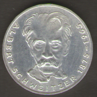 GERMANIA 5 MARCHI 1975 CENTENARY BIRTH OF ALBERT SCHWEITZER - [ 7] 1949-… : RFA - Rep. Fed. Tedesca