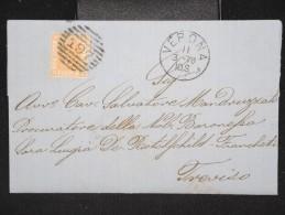ITALIE - Lettre ( Avec Texte ) De Vérone Pour Trévise En 1878 - A Voir - Lot P12357 - 1861-78 Vittorio Emanuele II