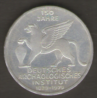 GERMANIA 5 MARCHI 1979 150 Th ANNIVERSARY GERMAN ARCHAEOLOGICAL INSTITUTE AG SILVER - [ 7] 1949-… : RFA - Rep. Fed. Tedesca