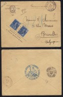 INDOCHINE - LAOS - VIENTIANE / 1909 LETTRE RECOMMANDEE POUR LA BELGIQUE VIA SAIGON  (ref 5401) - Briefe U. Dokumente