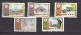 Maldives 1980,5V,set,building,gebouw,gebäude,bâtiment,edificio,MNH/Postfris(A1933) - Monumenten