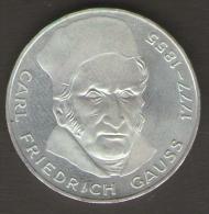 GERMANIA 5 MARCHI 1977 200 Th ANNIVERSARY BIRTH OF CARL FRIEDRICH GAUSS AG SILVER - [ 7] 1949-… : RFA - Rep. Fed. Tedesca
