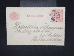 SUEDE - Entier Postal Voyagé En 1912 - A Voir - Lot P12363