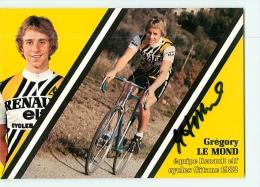 Gregory LE MOND, Autographe Manuscrit, Dédicace. 2 Scans. Greg Lemond. Renault Elf 1982 - Cycling
