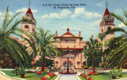 S.A.84- Court, Ponce De Leon Hotel. St. Augustine, Florida - St Augustine