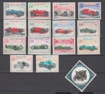 Monaco 1967,14V,set,car,auto,voiture,coche,MNH/Postfris(A1936) - Auto's