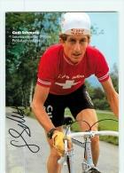 Godi SCHMUTZ , Champion Suisse 1980 , Autographe Manuscrit, Dédicace. 2 Scans. Cilo Aufina - Cycling
