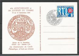 CARTE COMMEMORATIVE 38e JOURNEE DU TIMBRE ESCH-SUR-ALZETTE  TP N° 997 (CACHET POSTAL D'ESCH-SUR-ALZETTE)(SCAN VERSO) - Cartes Commémoratives