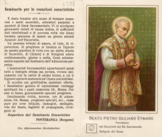 Santino Depliant BEATO PIETRO GIULIANO EYMARD (Fond. Sacerdoti SS. Sacramento) + RELIQUIA (Ex-indumentis), PERFETTO L71 - Religione & Esoterismo