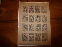 Vers 1900 Imageries Réunies De Jarville-Nancy  FAMILLE DES JEAN  Planche N°1035   Images Amusantes - Collections