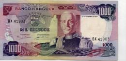 ANGOLA : 1000 Escudos 1972 (aunc) - Angola